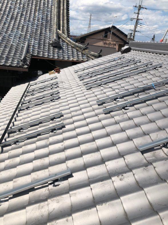 和歌山県QcellsQ.PEAK-DUO G6 16枚施工前の写真