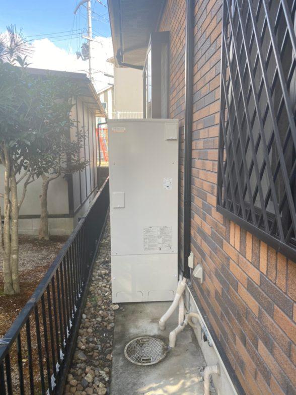 大阪府日立エコキュートBHP-F37SD施工後の写真