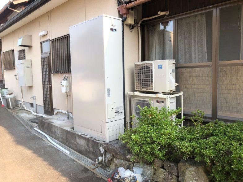 和歌山県三菱エコキュートSRT-S375UZ施工後の写真