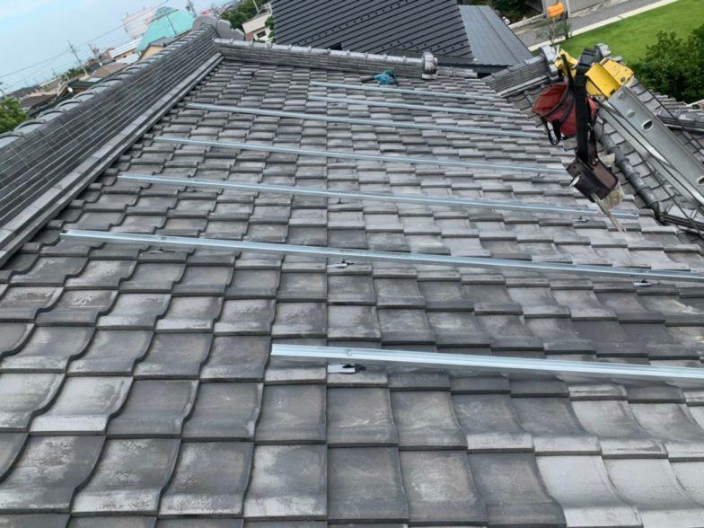 滋賀県QcellsQ.PEAK-DUO G6 10枚施工前の写真