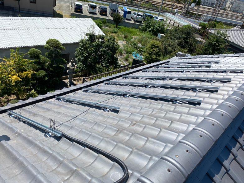 滋賀県QcellsQ.PEAK DUO-G6 10枚施工前の写真