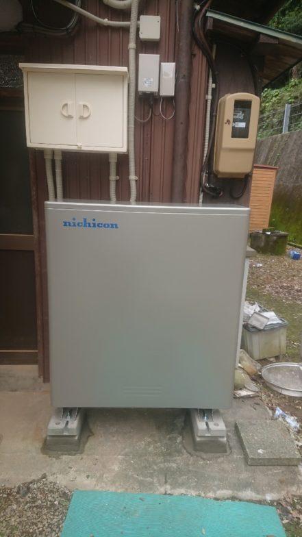 和歌山県ニチコン蓄電池ESS-U2M1施工後の写真