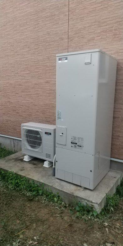 愛知県三菱エコキュートSRT-S375UA-BS施工後の写真