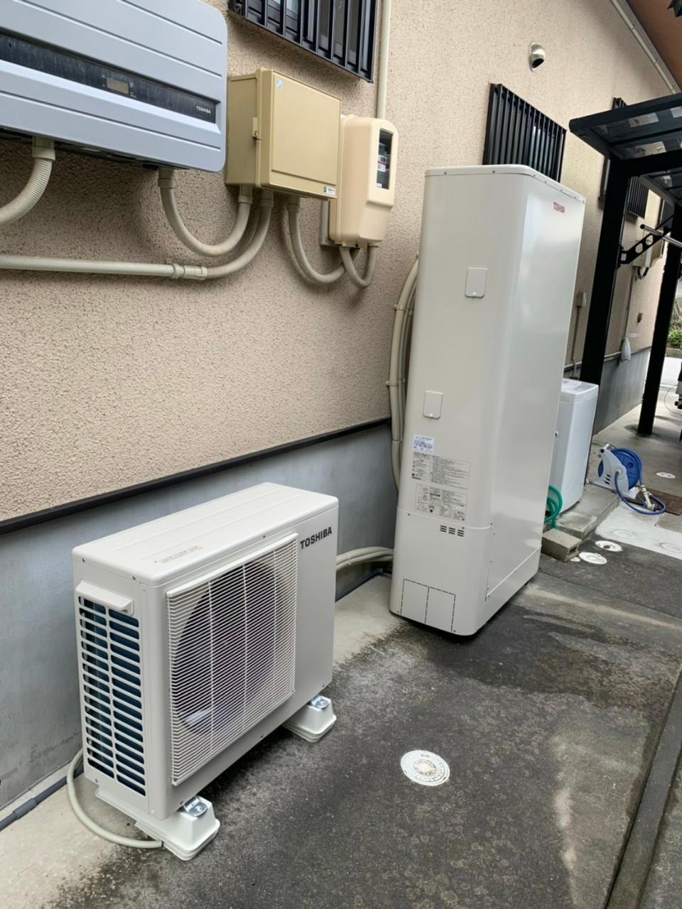 岐阜県東芝エコキュートHWH-B376HWA施工後の写真