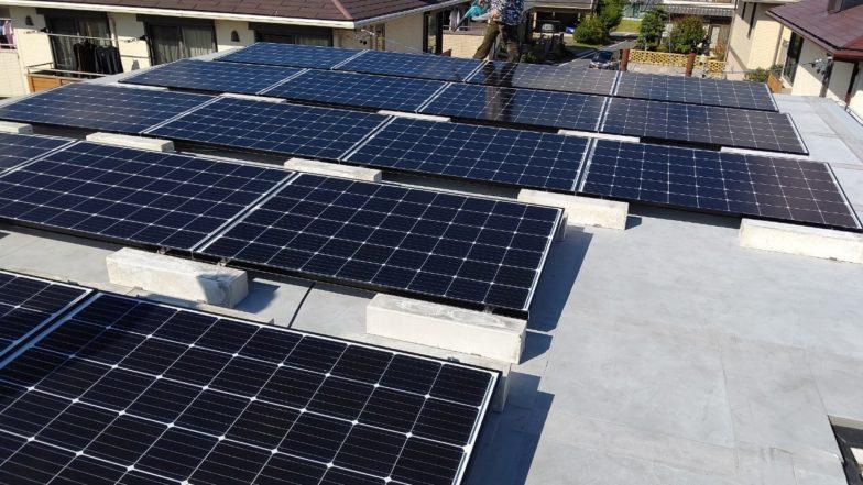 滋賀県長州産業4.2kw発電システム施工後の写真