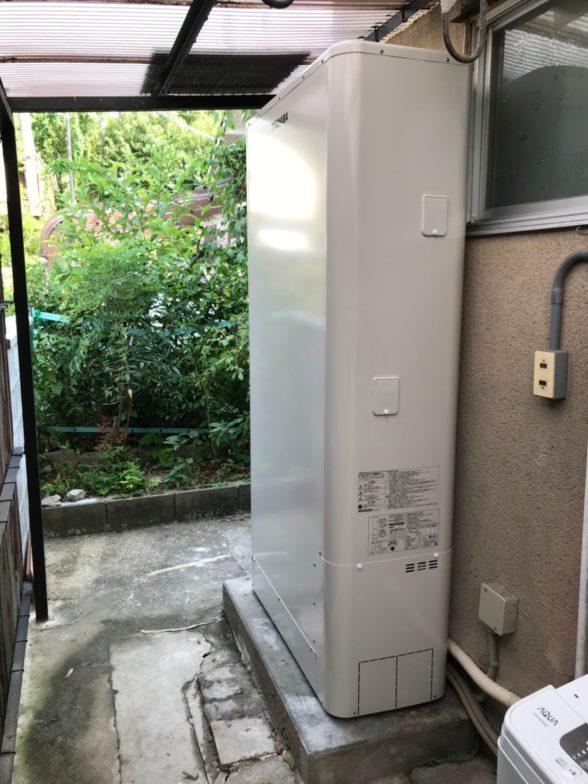 奈良県東芝エコキュートHWH-B376HW施工後の写真