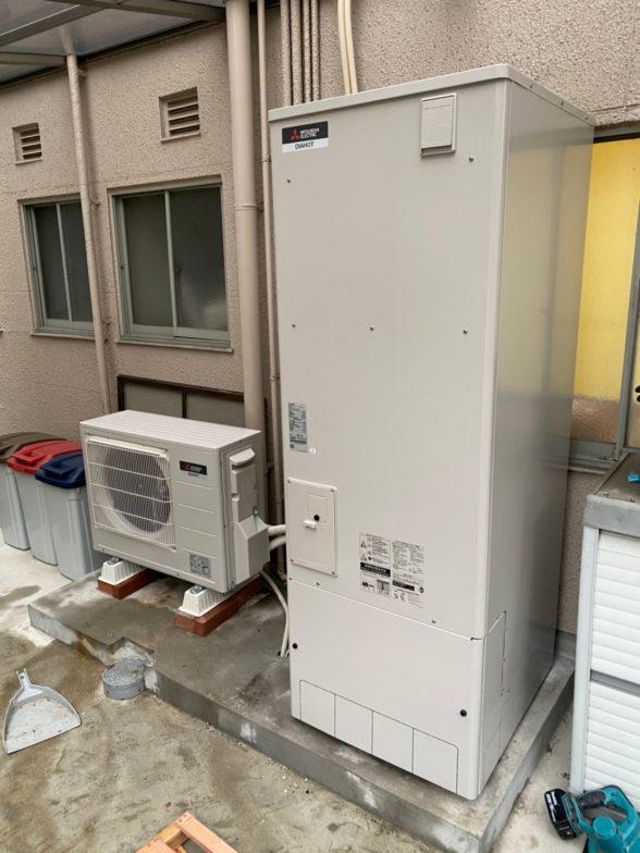 大阪府三菱エコキュートSRT-S375UA施工後の写真