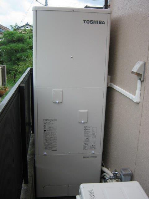 大阪府東芝エコキュートHWH-B466H施工後の写真