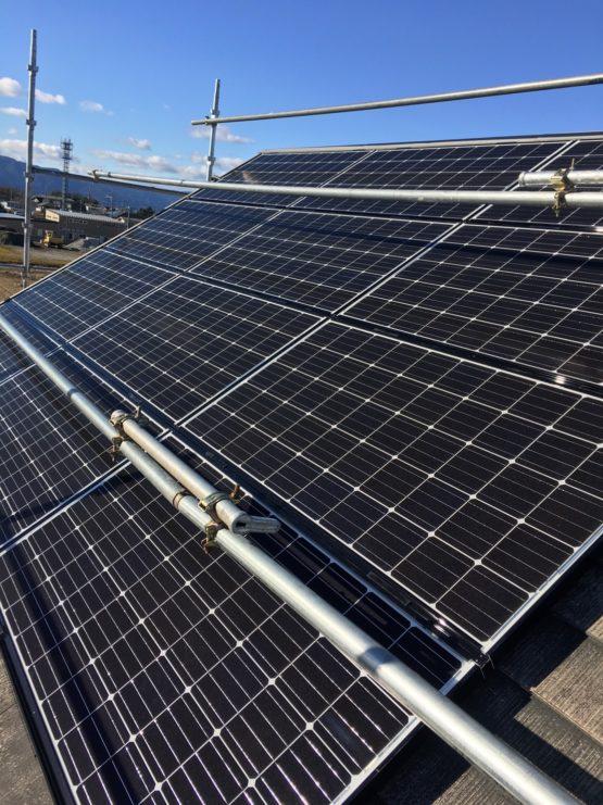 愛知県Qセルズ太陽光4.2kw発電システム施工後の写真