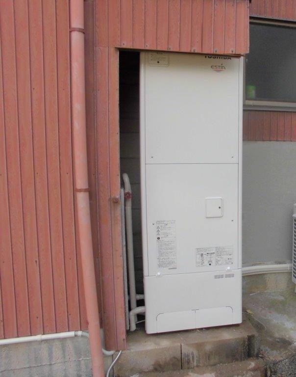 和歌山県東芝エコキュートHWH-F376H施工後の写真