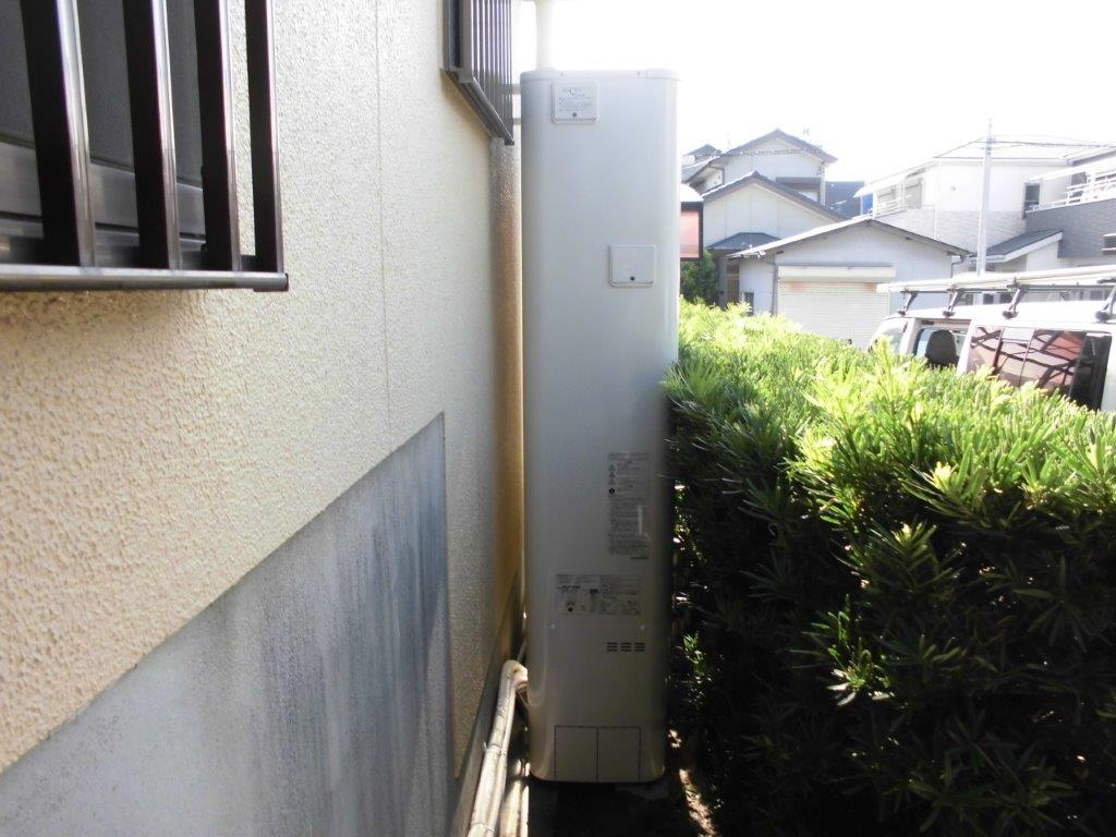 大阪府東芝エコキュートHWH-B376HWA施工後の写真