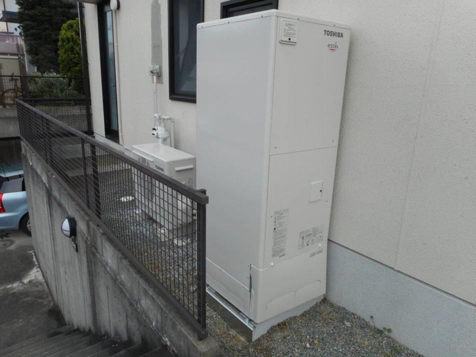 兵庫県東芝エコキュートHWH-B466H施工後の写真