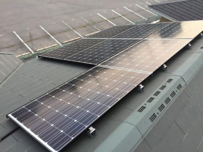 奈良県長州産業3.1kw発電システム施工後の写真