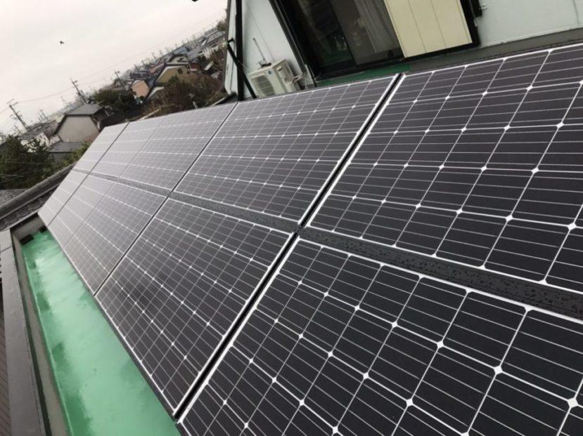 大阪府長州太陽光CS-284B61×10枚施工後の写真