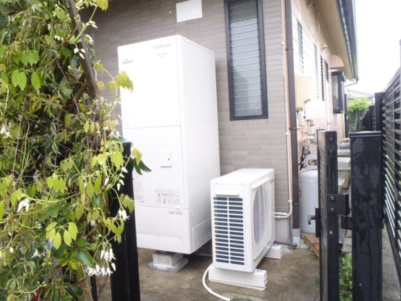 奈良県東芝エコキュートHWH-B376HA施工後の写真