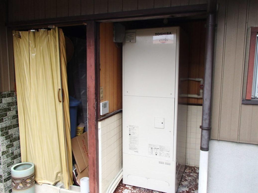 和歌山県東芝エコキュートHWH-B376H施工後の写真