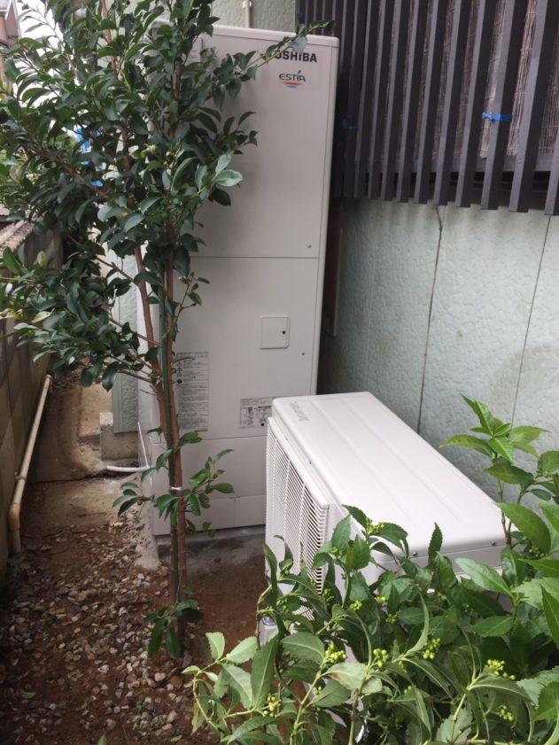 大阪府東芝エコキュートHWH-B376HA施工後の写真