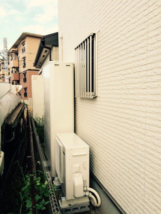 大阪府東芝エコキュートHWH-B376HW施工後の写真