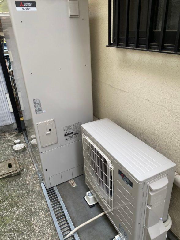 愛知県三菱エコキュートSRT-S465UA施工後の写真
