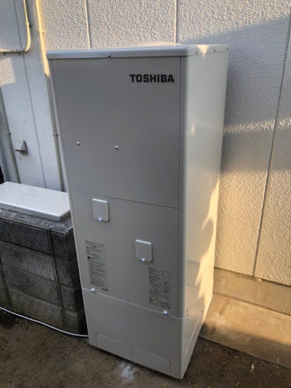 京都府東芝エコキュートHWH-B376HIHクッキングヒーターCS-G318MS施工後の写真