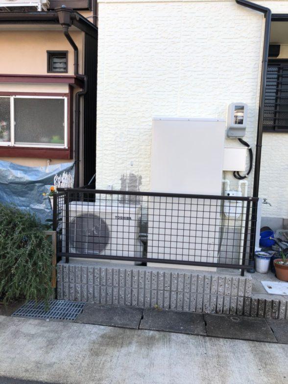 岐阜県東芝エコキュートHWH-B376HW施工後の写真