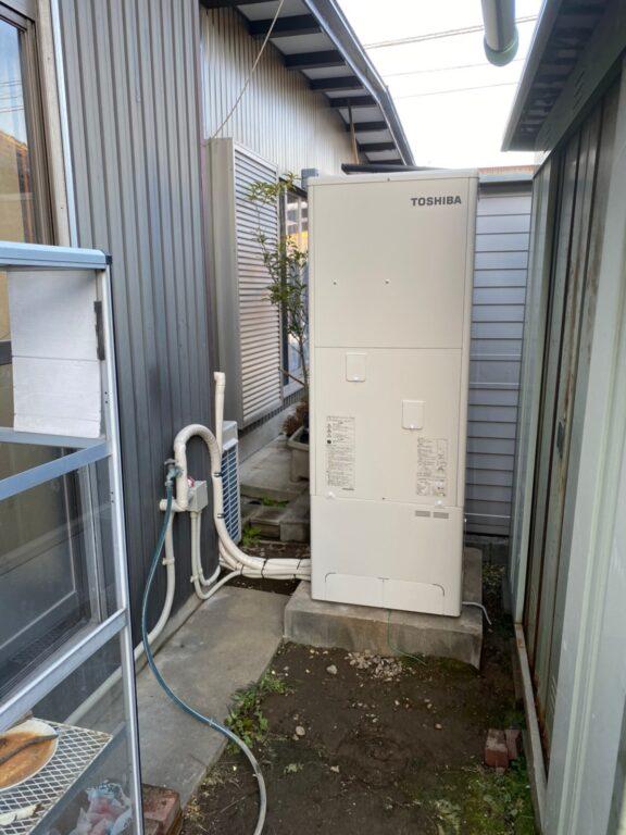 兵庫県東芝エコキュートHWH-F376H施工後の写真