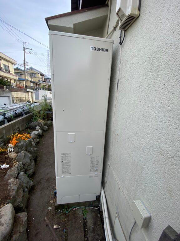 大阪府東芝エコキュートHWH-B376施工後の写真