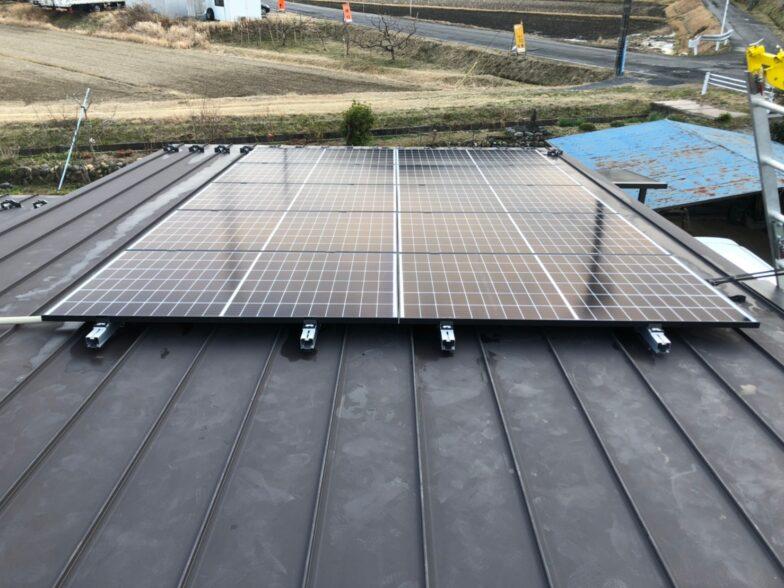 大阪府Qcells3.55kw発電システム施工後の写真
