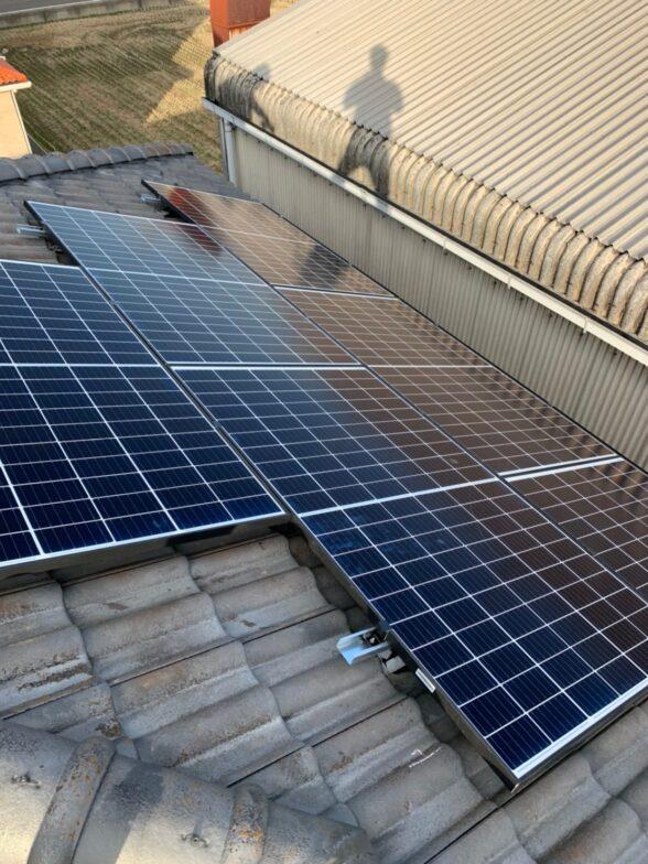 愛知県Qcells5.2kw発電システム施工後の写真