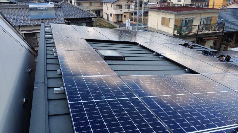 奈良県Qcells9.5kw発電システム施工後の写真