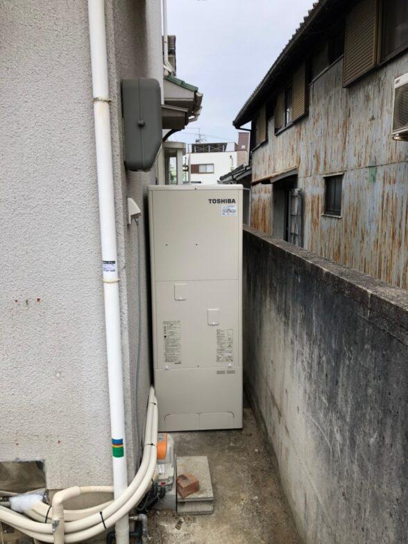 三重県東芝エコキュートHWH-B466H施工後の写真