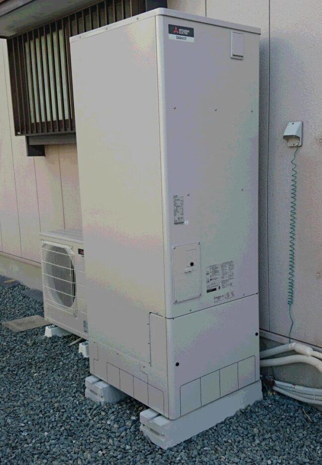 大阪府三菱エコキュートSRT-S375UA三菱IHクッキングヒーターCS-G318MS施工後の写真