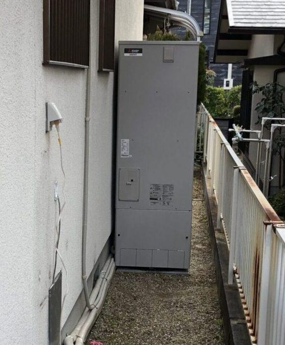 大阪府三菱エコキュートSRT-S375UA三菱IHクッキングヒーターCS-G318M施工後の写真