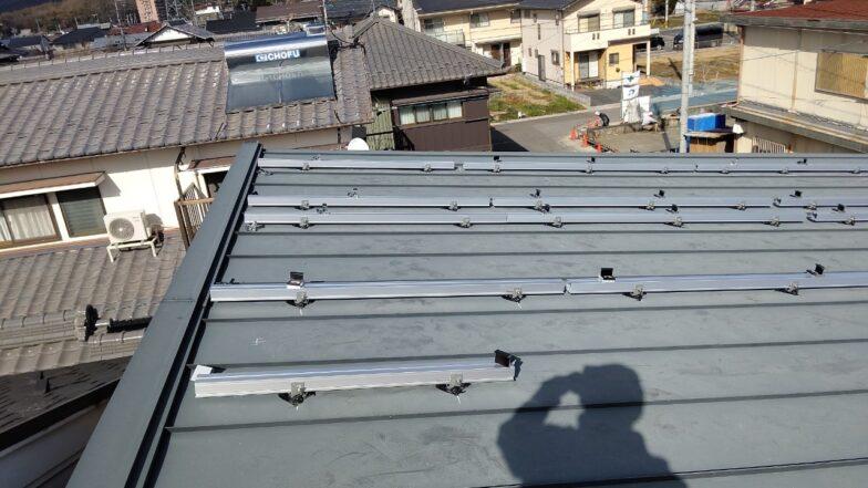 奈良県Qcells9.5kw発電システム施工前の写真