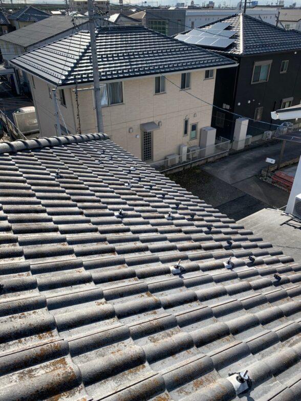 愛知県Qcells5.2kw発電システム施工前の写真