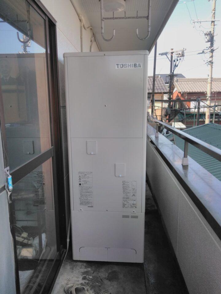 大阪府東芝エコキュートHWH-B376H三菱IHクッキングヒーターCS-G318MS施工後の写真