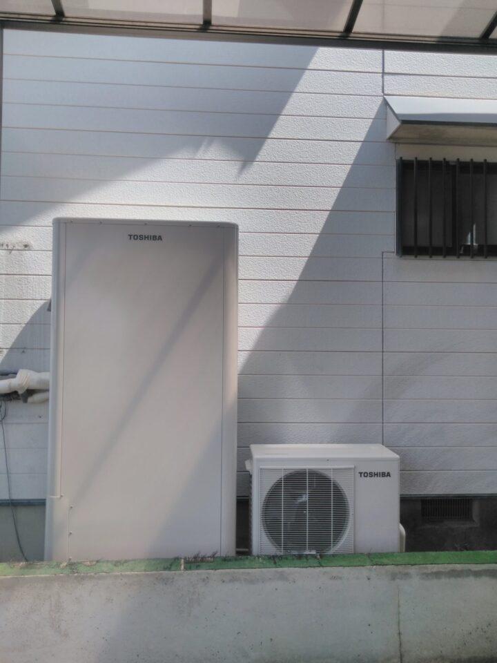 奈良県東芝エコキュートHWH-B376HW三菱IHクッキングヒーターCS-G318MS施工後の写真