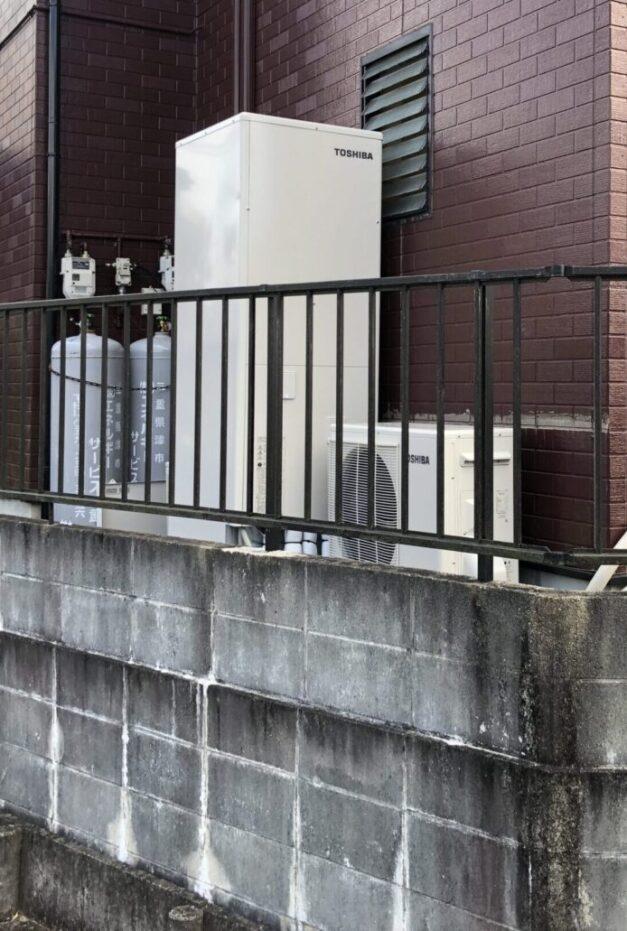 三重県東芝エコキュートHWH-B376HA施工後の写真