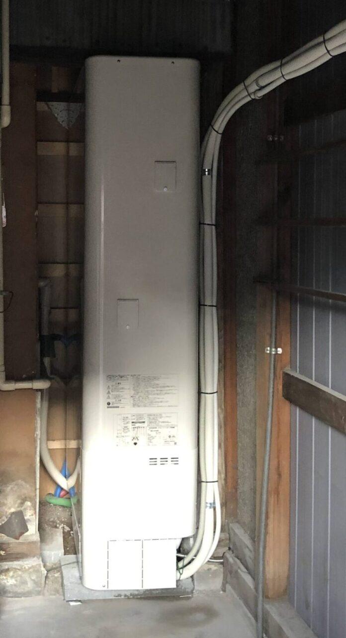 奈良県東芝エコキュートHWH-B376HW三菱IHクッキングヒーターCS-G318M施工後の写真