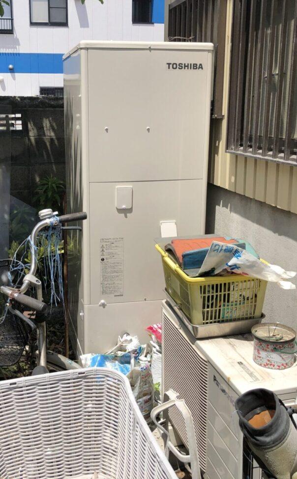 大阪府東芝エコキュートHWH-F376H施工後の写真