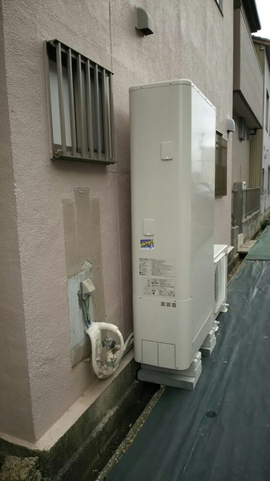京都府東芝エコキュートHWH-B376HWA施工後の写真