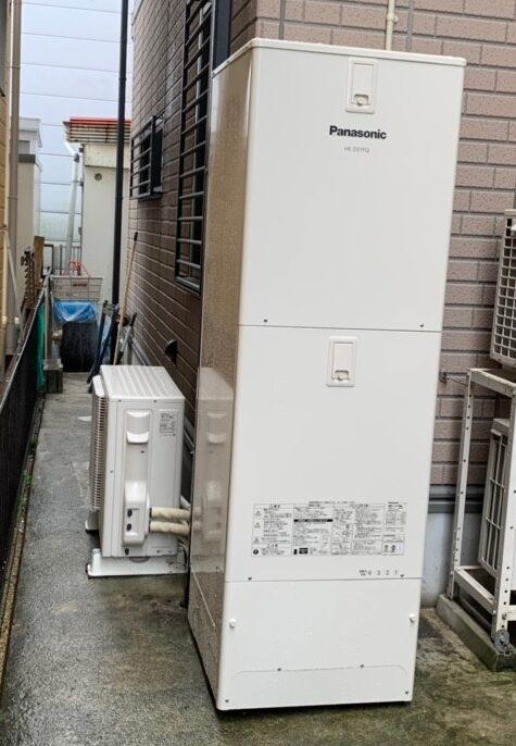 大阪府PanasonicエコキュートHE-NSU37KQS施工後の写真