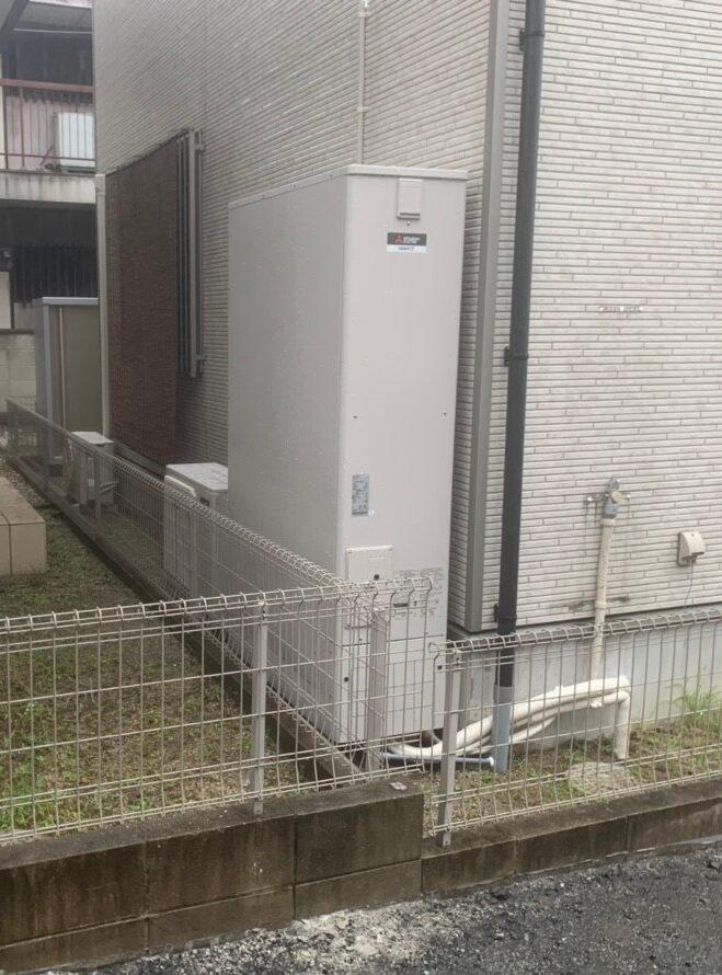 大阪府三菱エコキュートSRT-S375UZ三菱IHクッキングヒーターCS-G318MS三菱バスカラットV-141BZ施工後の写真