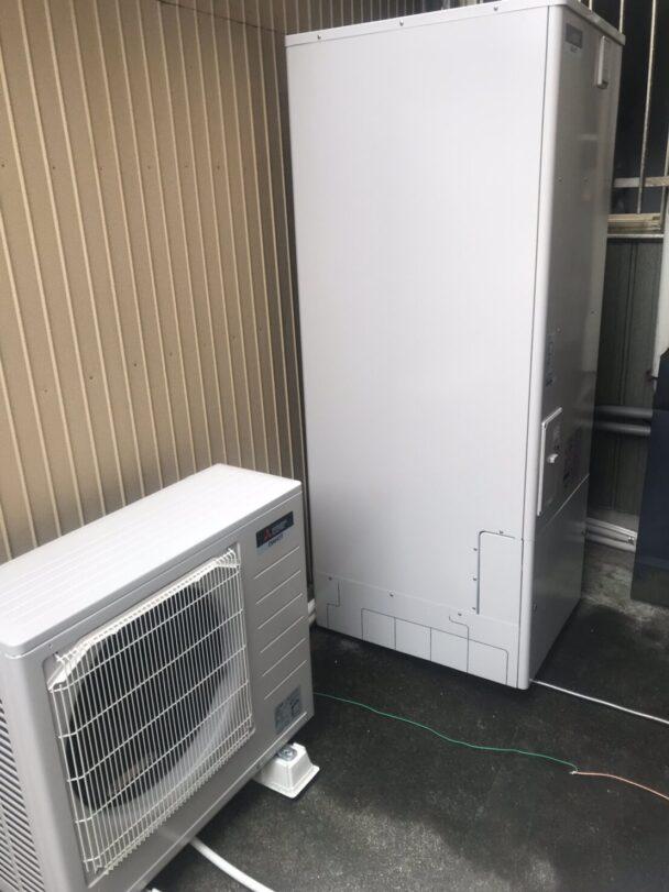 大阪府三菱エコキュートSRT-S375U施工後の写真