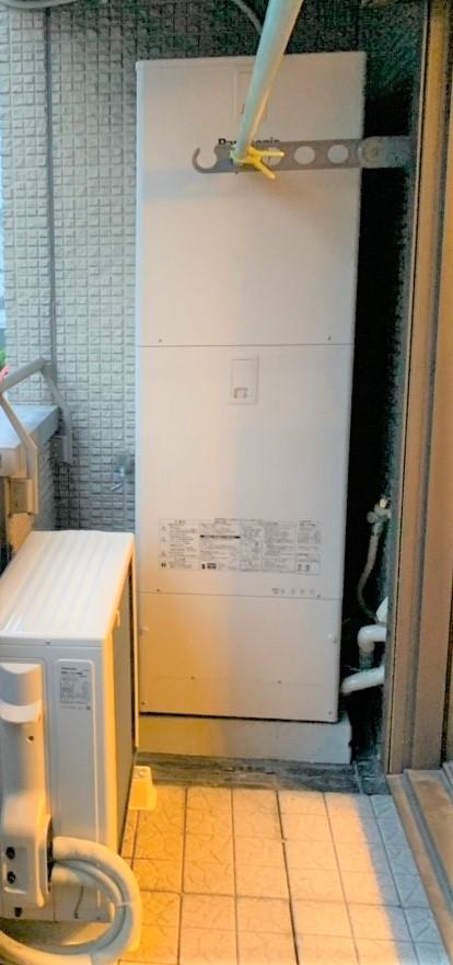 大阪府PanasonicエコキュートHE-JU37JQS施工後の写真