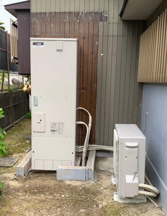 京都府三菱エコキュートSRT-S375UA施工後の写真