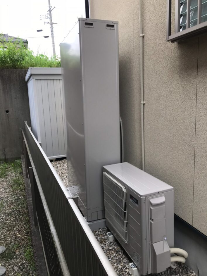 奈良県三菱エコキュートSRT-S375UZ施工後の写真