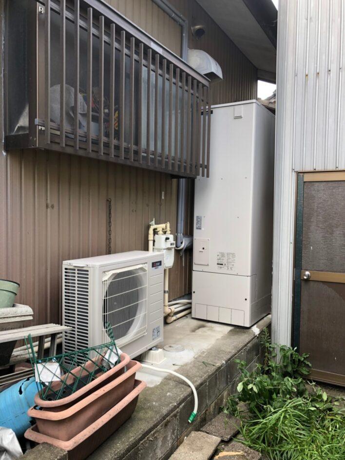 奈良県三菱エコキュートSRT-S465UA施工後の写真
