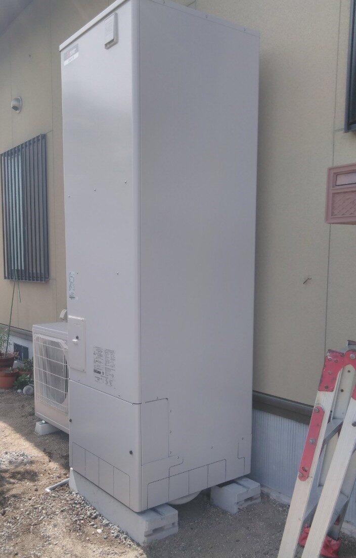 滋賀県三菱エコキュートSRT-P375UB施工後の写真