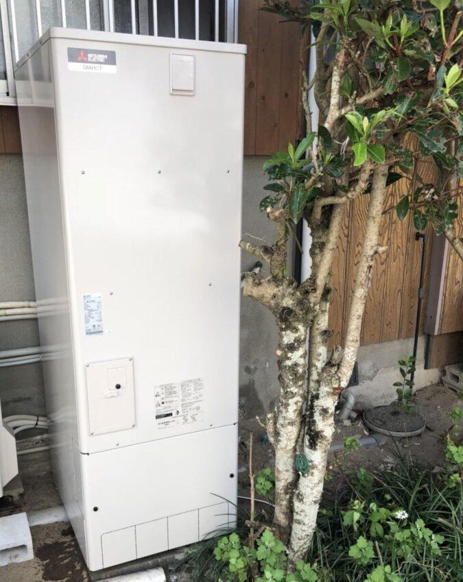 奈良県三菱エコキュートSRT-S375UA施工後の写真